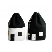 Toy Bags House Black & White Geschenkesack...